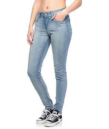 Jolt Techno Tuck Light Wash Skinny Jeans