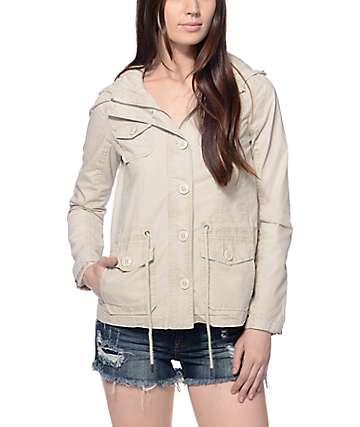 Jou Jou Karina Stone Hooded Anorak Jacket