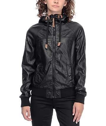 Jou Jou Sera Black Bomber Jacket