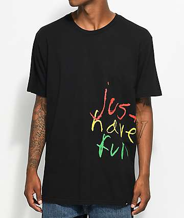 Just Have Fun Childish Black T-Shirt