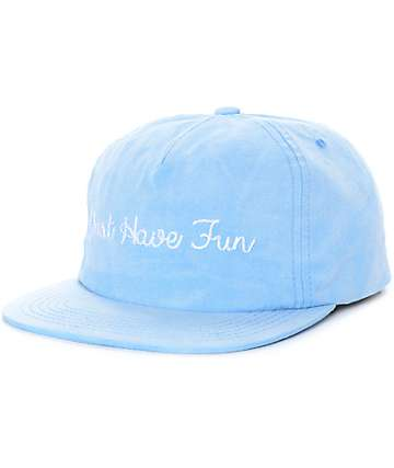 Just Have Fun Faded gorra strapback en azul