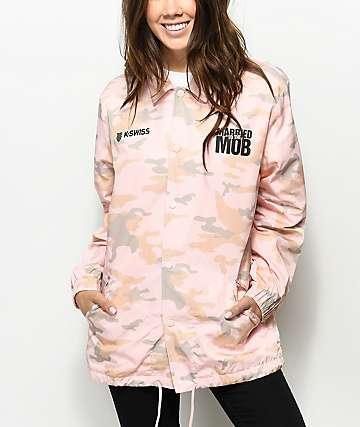 K-Swiss x MTTM Logo chaqueta entrenador camuflada en rosa