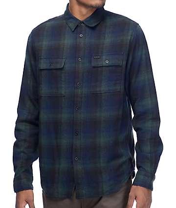 KR3W Ambush camisa de franela en verde y negro