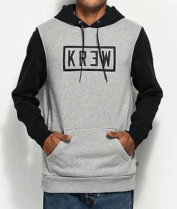 KR3W Box Lock Grey & Black Hoodie