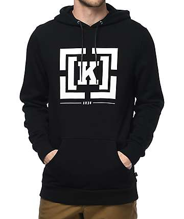 KR3W Bracket Black Fleece Hoodie
