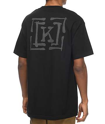 KR3W Brush Type Black T-Shirt