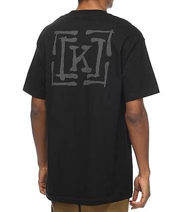 KR3W Brush Type camiseta negra
