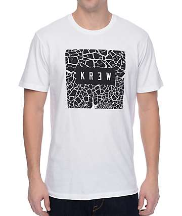 KR3W Dry Lake White T-Shirt