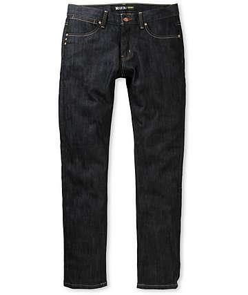 KR3W K Skinny Raw Blue Jeans