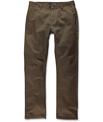 KR3W K Slim Dark Drab Chino Pants
