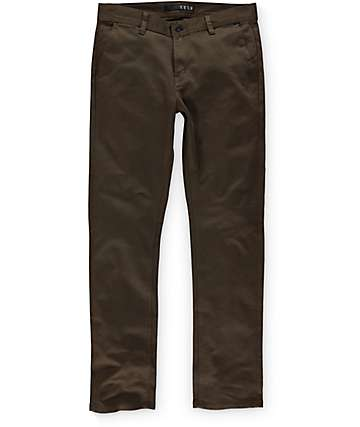 KR3W K Slim Moss Green Chino Pants