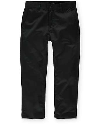 KR3W Klassic Cropped Black Chino Pants