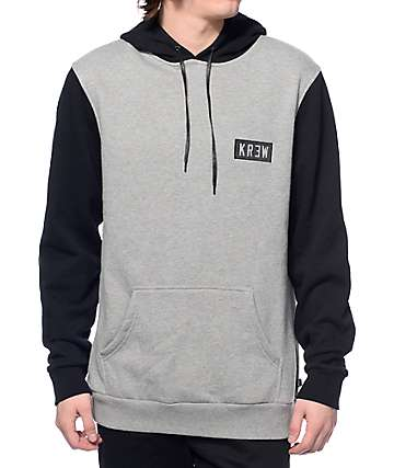 KR3W Locker Box Black & Heather Grey Hoodie