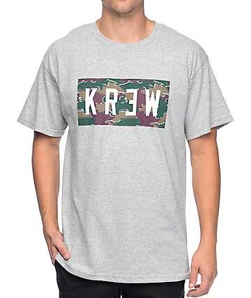 KR3W Locker Camo camiseta gris jaspeado