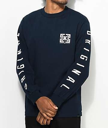 KR3W OG Bracket camiseta de manga larga en azul marino