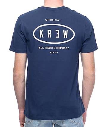KR3W Service Station camiseta en azul marino