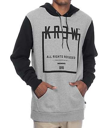 KR3W Squared Grey & Black Hoodie