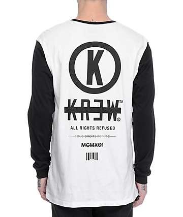 KR3W Stack Black & White Long Sleeve T-Shirt