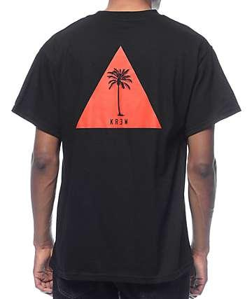 KR3W Tripalm Black T-Shirt
