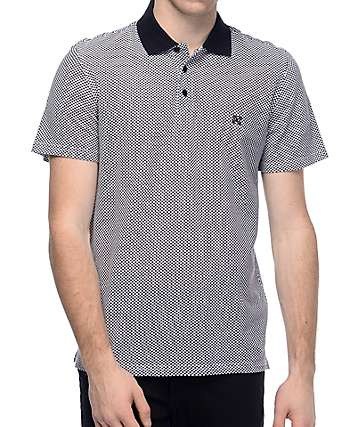 KR3W Wellton Black & White Checkered Polo Shirt