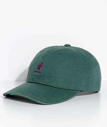 Kangol Algae Green Washed Strapback Hat