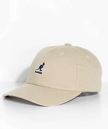 Kangol Khaki Washed Strapback Hat