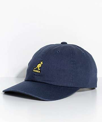 Kangol Navy Washed Strapback Hat
