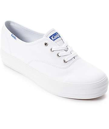 Keds Triple White Platform Shoes