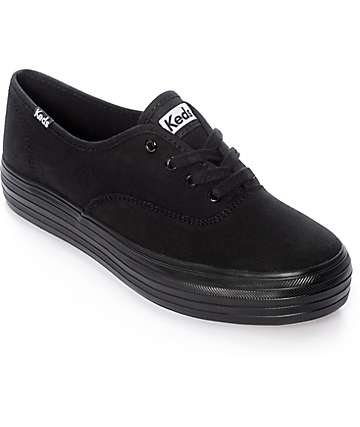 Keds Triple zapatos negros con plataformas gruesas