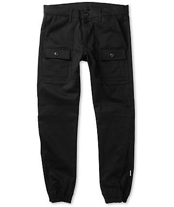 Kennedy Rugger Black Cargo Jogger Pants