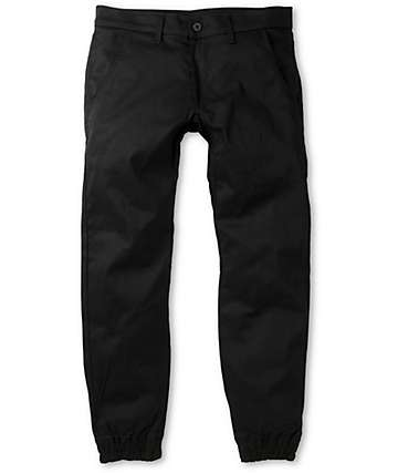 Kennedy Weekender Black Denim Jogger Pants