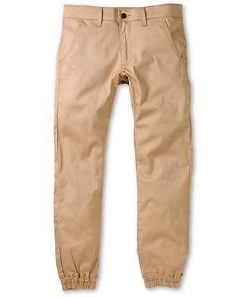 Kennedy Weekender Khaki Denim Jogger Pants