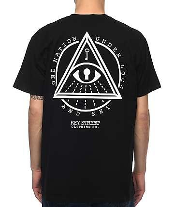 Key Street All Seeing Eye camiseta negra