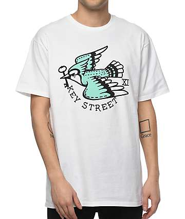 Key Street Blue Jay White T-Shirt