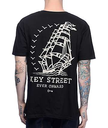 Key Street Ever Onward Black T-Shirt