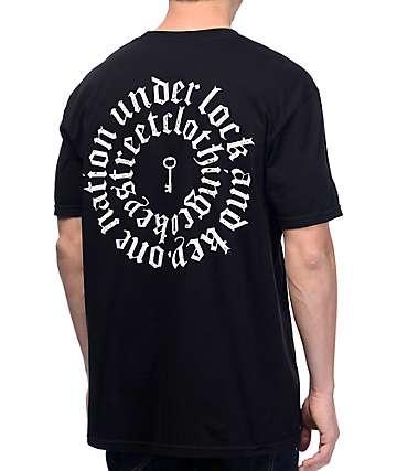Key Street Lock And Key Black T-Shirt