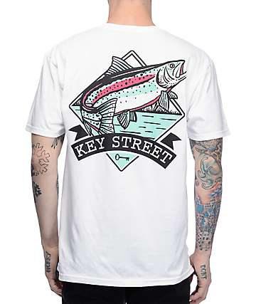 Key Street Steelhead White T-Shirt
