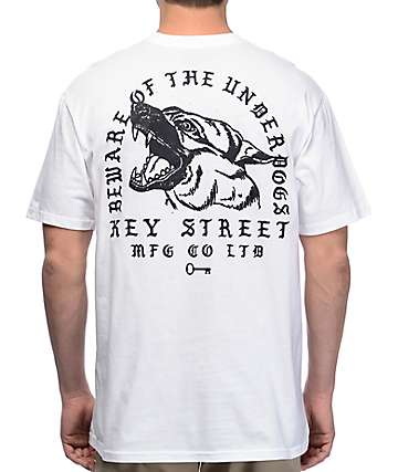 Key Street Underdogs White T-Shirt