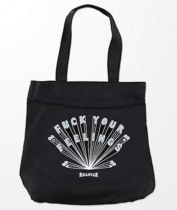 Killstar F*ck Your Feelings Black Tote Bad