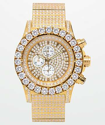 King Ice Magistrate 14k Gold Watch