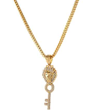 King Ice Major Key 14K Gold Necklace
