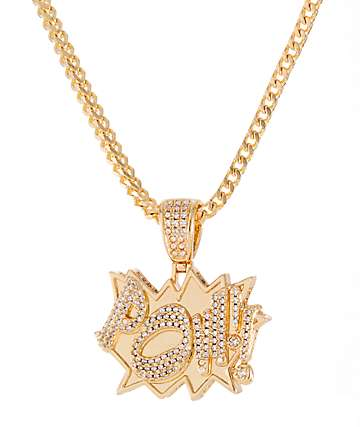 King Ice Pow Gold Necklace