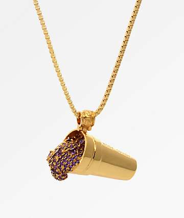 King Ice Purple Drank JJ Necklace