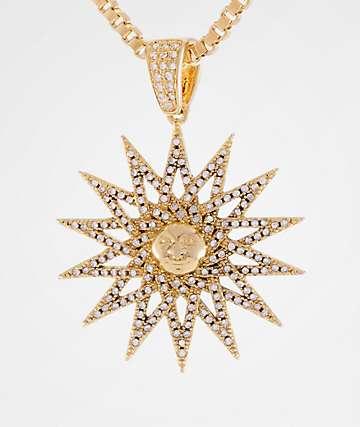 King Ice Women's Solaris Gold Necklace