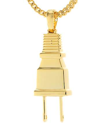 "King Ice x Fox ""Empire"" Gold Plug Necklace"