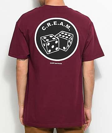Know Bad Daze CREAM camiseta en color vino