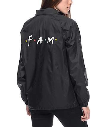 Know Bad Daze Fam Black Coaches Jacket