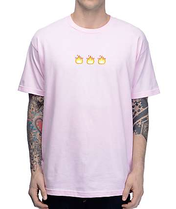 Know Bad Daze Fire Light Pink T-Shirt