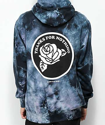 Know Bad Daze Lava Lamp Blue Tie Dye Hoodie