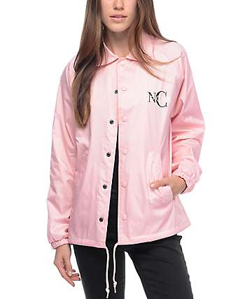 Know Bad Daze No Chill Pink Coaches Jacket